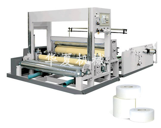 Pneumatic vertical bobbin paper slitting and rewinding machine